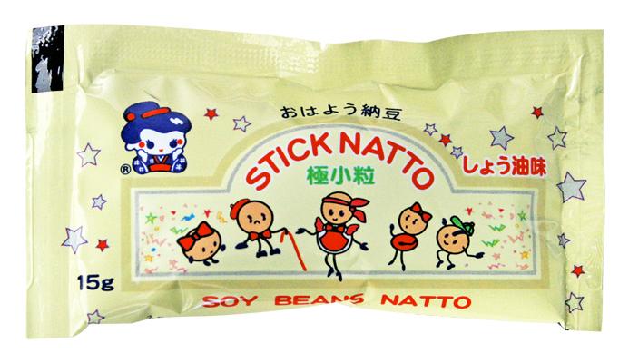 【冷凍限定・送料込】スティック納豆 (しょうゆ味)15g/40個×6袋入
