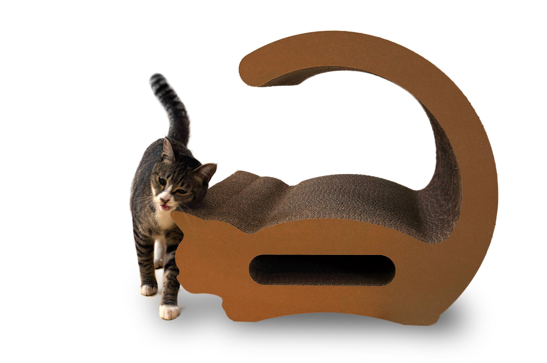 猫の爪とぎ・ロシアンブルー
