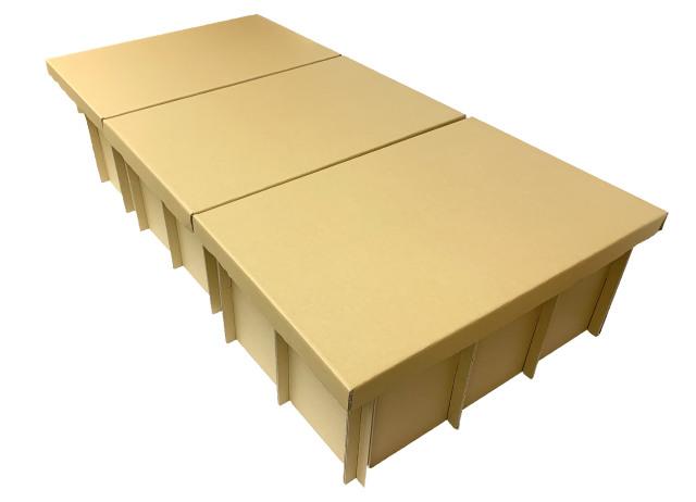 組立式簡易段ボールベッド