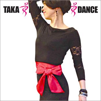 【タカ・ダンス】サテンベルト(LB01)
