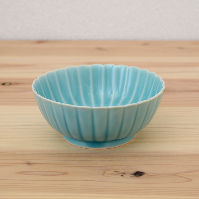 波佐見焼 団陶器 Danlife 和食器 器 しのぎ 鎬 花 シンプル 皿 小鉢 プレート ボウル