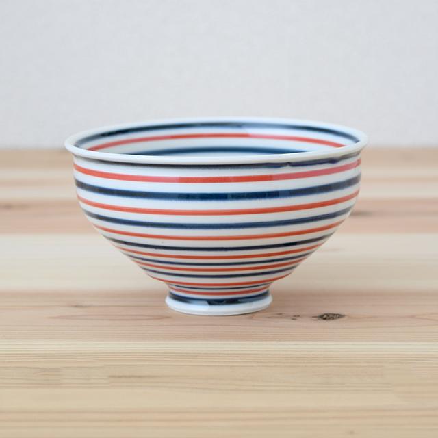 波佐見焼 康創窯 お茶碗 飯碗 ごはん茶碗 まる碗 和食器 セレクトショップ Danlife ボーダー