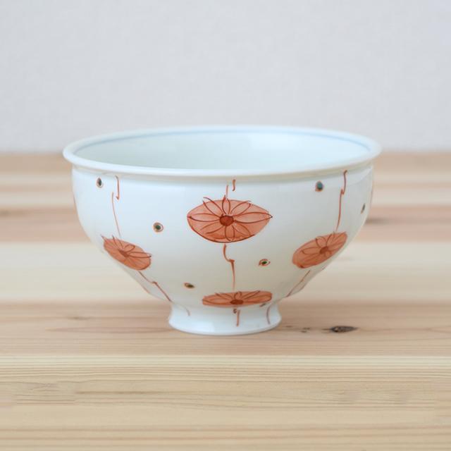 波佐見焼 康創窯 お茶碗 飯碗 ごはん茶碗 まる碗 和食器 セレクトショップ Danlife 花 かわいい