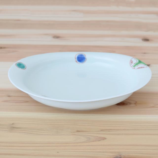 波佐見焼 康創窯 カレー皿 パスタ皿 楕円皿 プレート 浅鉢 和食器 セレクトショップ Danlife 丸紋 和風