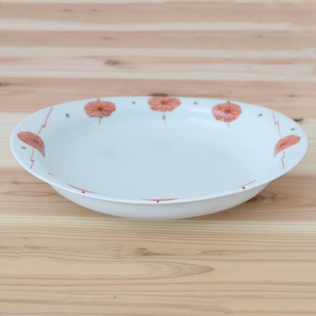 波佐見焼 康創窯 カレー皿 パスタ皿 楕円皿 プレート 浅鉢 和食器 セレクトショップ Danlife 花 かわいい