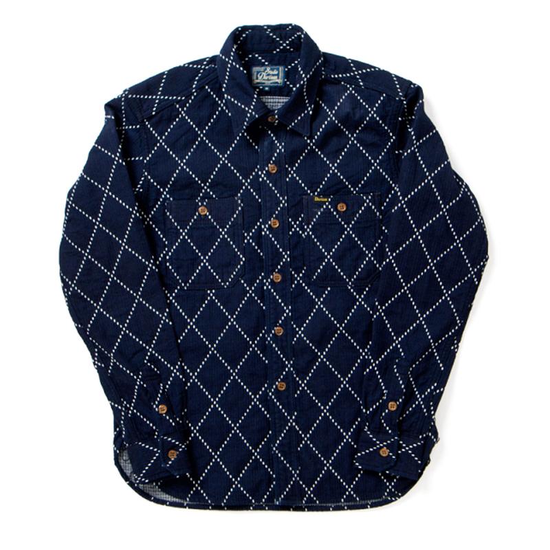 インディゴドビーシャツ【5649】