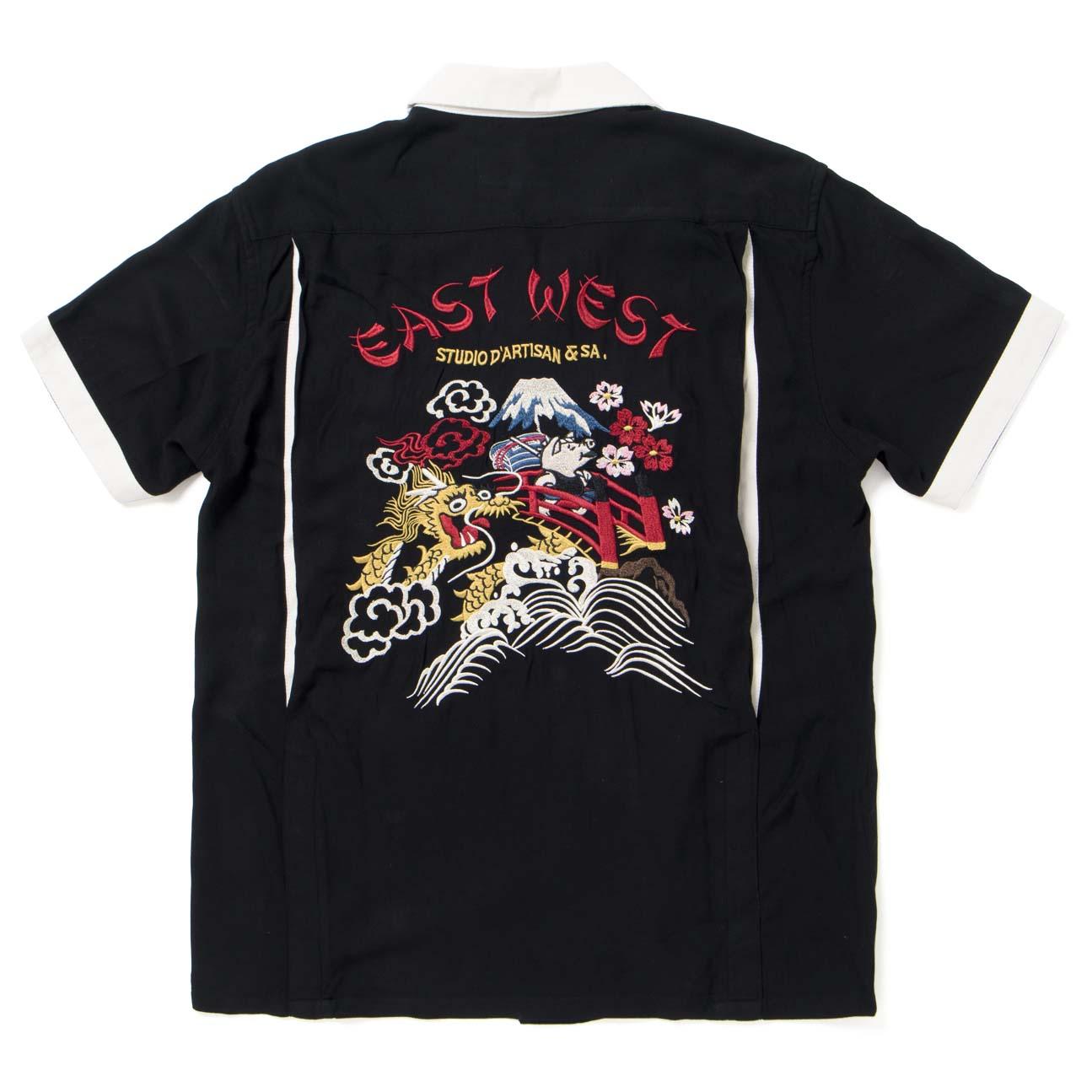 刺繍レーヨンスカシャツ【5655】