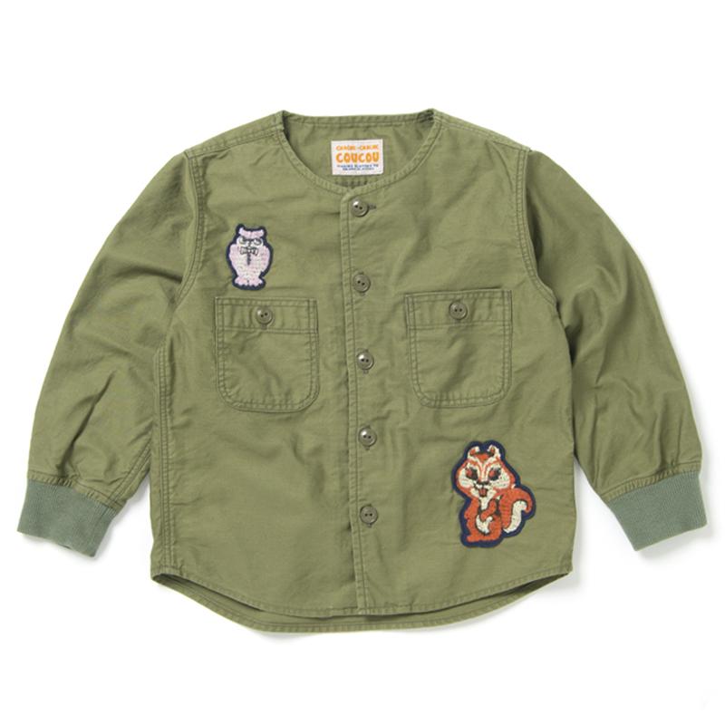 森の動物ミリタリーシャツ【C-5000B】