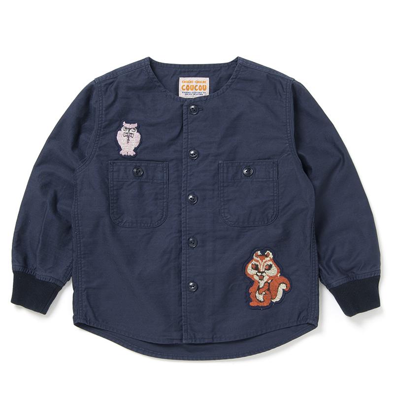 森の動物ミリタリーシャツ【C-5000B-BIG】130サイズ
