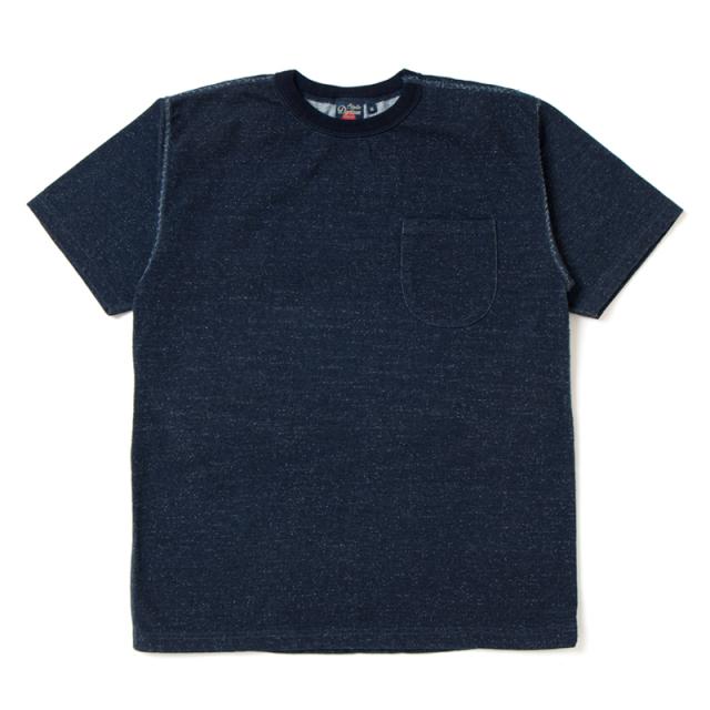 吊り編みインディゴTシャツ 【8001】