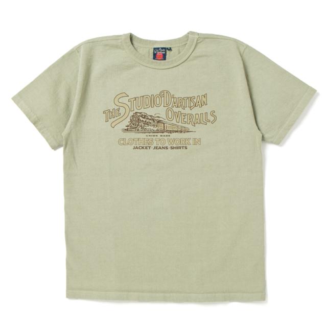 吊り編みプリントTシャツ【8003B】