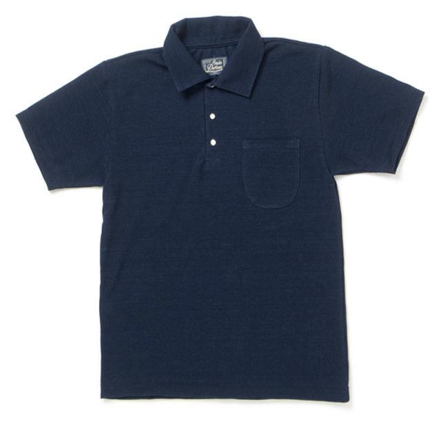 インディゴ鹿の子ポロシャツ【8024】