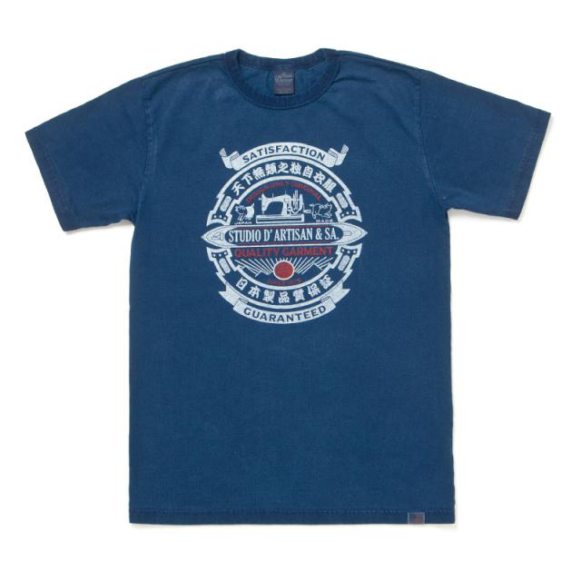USAコットンインディゴTシャツ【8033B】
