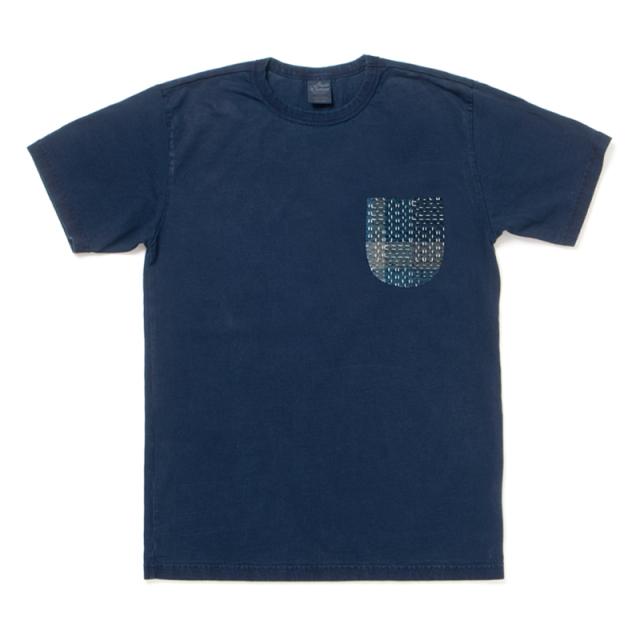NORAGI SASHIKO ポケットTシャツ【8036IND】