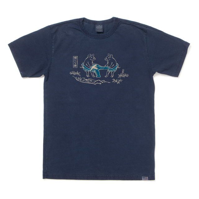 USAコットンインディゴTシャツ【8037IND】