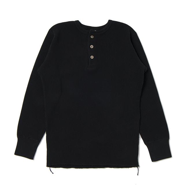 ヘビーサーマルヘンリー長袖Tシャツ【9937】