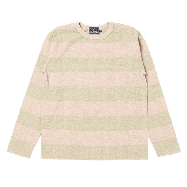 FOX吊り編みボーダーロングTシャツ【FOX-013】