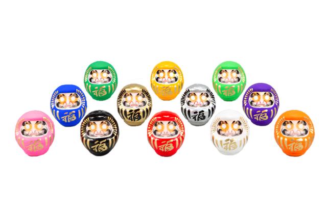 カラーだるま(鶴亀ひげ)0.5号