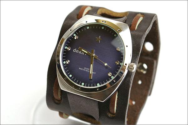 ハリウッドスターも愛用するLAブランド★deanの腕時計(mw03_brown_face_blue)