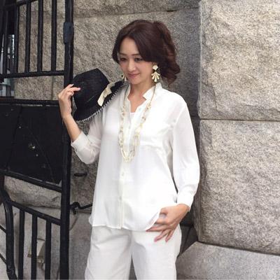 【DEBUTTO】きれいなとろみシャツ(D172310)