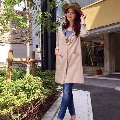 【DEBUTTO】サラッと着やすい楊柳カーディガン( D172309 )