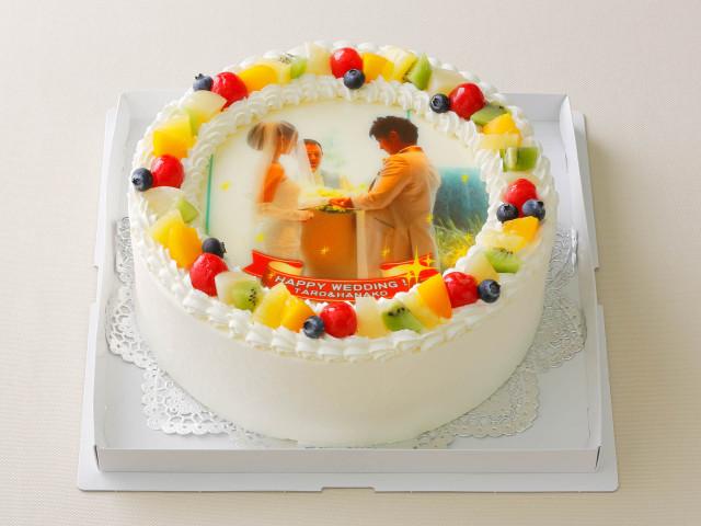 写真ケーキ8号