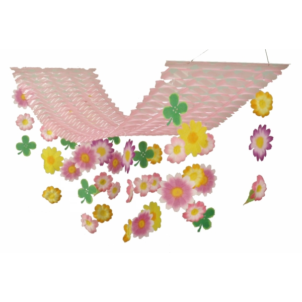 スプリングフラワー プリーツハンガー(2114011)[春 花 飾り 販促グッズ 店内装飾 プリーツハンガー]
