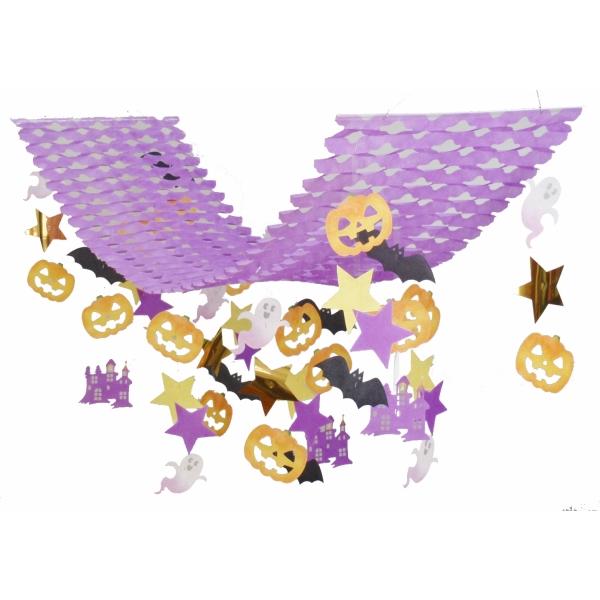 ハロウィンナイトプリーツハンガー(4126030)[ハロウィン 飾り 販促グッズ 店内装飾 プリーツハンガー]
