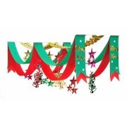 立体スタープリーツ2連ペナント(5100982)[冬 飾り 販促グッズ 店内装飾 ペナント クリスマス]