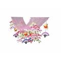 日の出扇鶴プリーツハンガー(1101605)[正月 飾り 販促グッズ 店内装飾 プリーツハンガー]