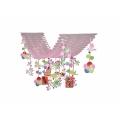 スリーミニ羽根迎春プリーツハンガー(1101606)[正月 飾り 販促グッズ 店内装飾 プリーツハンガー]