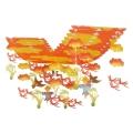 あかね雲トンボ プリーツハンガー(4106009)[秋 飾り 販促グッズ 店内装飾 プリーツハンガー 赤とんぼ]