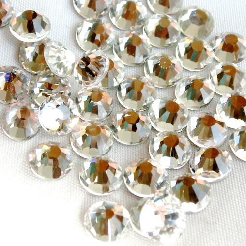 高品質ガラス フラットストーン クリスタル