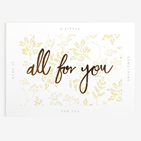 メッセージカード  04 Yellow - all for you 【グリーティング】【ラッピング】【ミニサイズ】