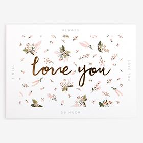 メッセージカード  14 Pink - little bride love you 【グリーティング】【ラッピング】【ミニサイズ】