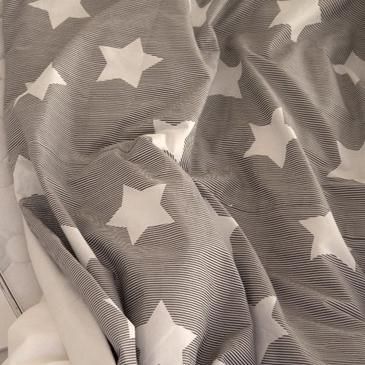 生地・布・入園入学 ≪ Cocoa gray star ≫  コットン/幅110cm デコレクションズオリジナル生地・布 【10cm単位販売】