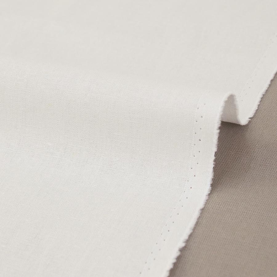 生地・布 ≪ 無地ハーフリネン 24 ホワイト ≫ ハーフリネン/幅135cm 【10cm単位販売】