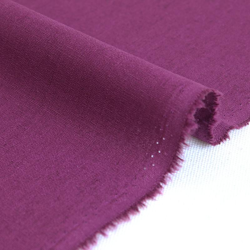 生地・布 ≪無地ハーフリネン 07 プラム(紫)≫ ハーフリネン/幅135cm 【10cm単位販売】