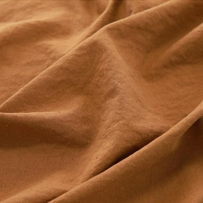 生地・布 ≪ 無地ハーフリネン バイオウォッシュ 10 ゴールドブラウン ≫ ハーフリネン/幅143cm 【10cm単位販売】