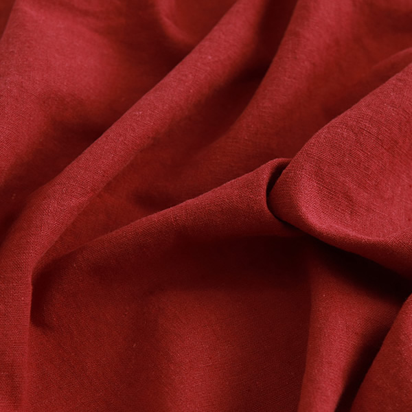 生地・布 ≪ 無地ハーフリネン バイオウォッシュ 32 バーガンディ ≫ ハーフリネン/幅143cm 【10cm単位販売】