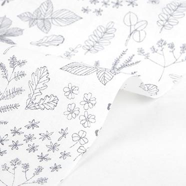 生地・布 ≪ NATURE-leaf ≫  コットン/幅148cm デコレクションズオリジナル生地・布 【10cm単位販売】