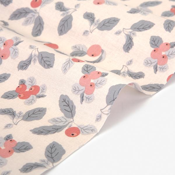 生地・布・入園入学 ≪ Apple farm pink ≫コットン/幅109cm デコレクションズオリジナル生地・布 【10cm単位販売】