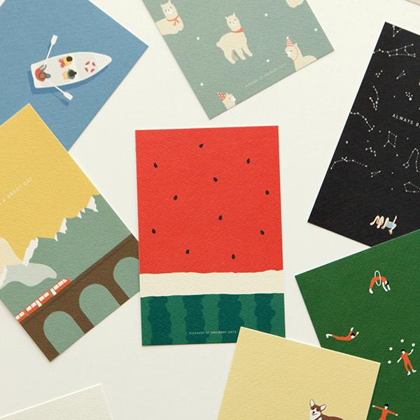 イラストポストカード 1枚入り 【グリーティング】【ラッピング】