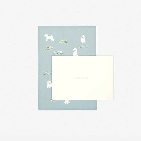 レターセット 18 Bichon frise 【グリーティング】【ラッピング】