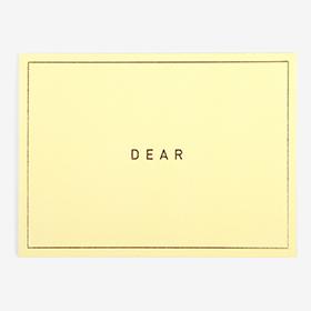 メッセージカード  01 Yellow - dear 【グリーティング】【ラッピング】【ミニサイズ】
