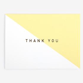 メッセージカード  03 Yellow - thank you 【グリーティング】【ラッピング】【ミニサイズ】