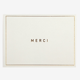 メッセージカード  06 Gray - merci 【グリーティング】【ラッピング】【ミニサイズ】