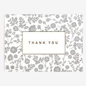 メッセージカード  07 Gray - thank you 【グリーティング】【ラッピング】【ミニサイズ】