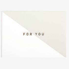 メッセージカード  08 Gray - for you 【グリーティング】【ラッピング】【ミニサイズ】