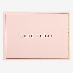 メッセージカード  11 Pink - good today 【グリーティング】【ラッピング】【ミニサイズ】